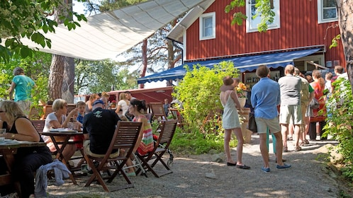 dining out under the shade in Stockholm