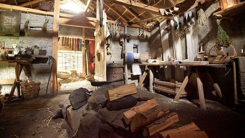 inside an old viking home in Stockholm
