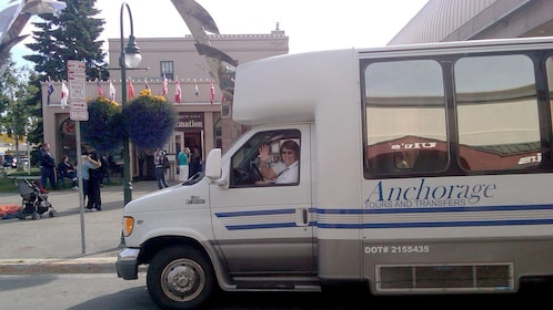 Bus on the Anchorage Tours and Transfers activity in Anchorage, AK