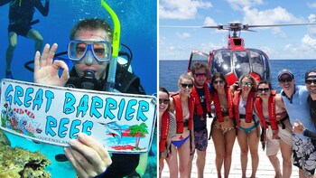 Full-Day Outer Great Barrier Reef & Helicopter Package