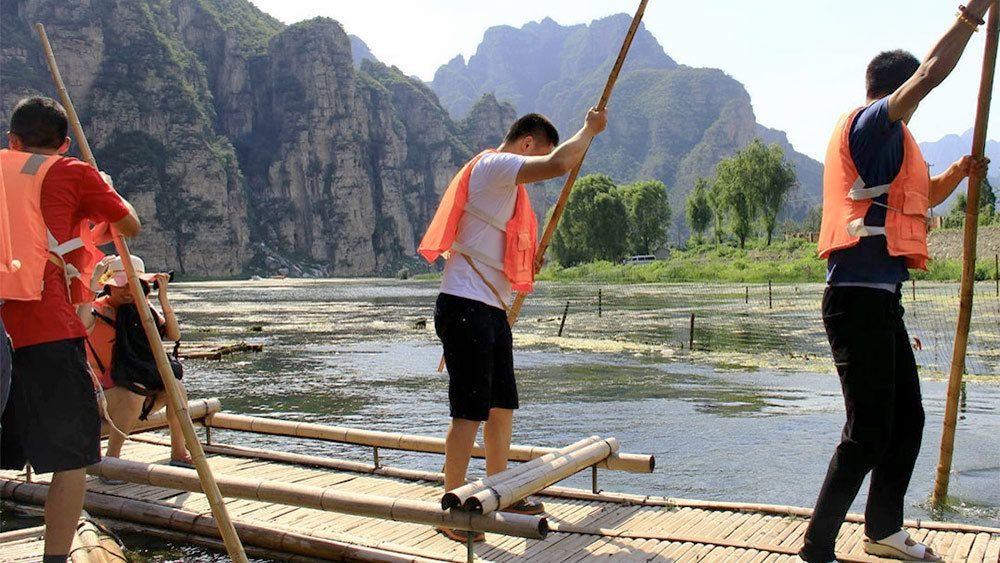 Activity in Beijing along the water