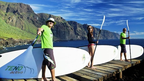 paddle boarders in Tenerife