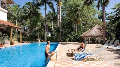 Swimming pool in Chichen Itza