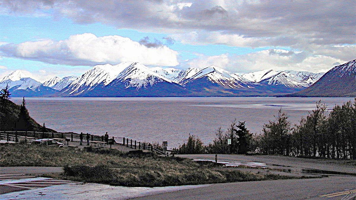 Landscape view of the mountains in Alaska