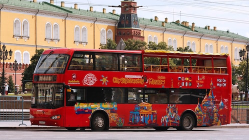 Site seeing bus in Moscow