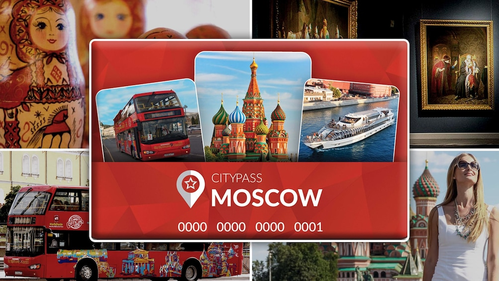 Show item 1 of 10. CIty Pass Moscow Hero Image