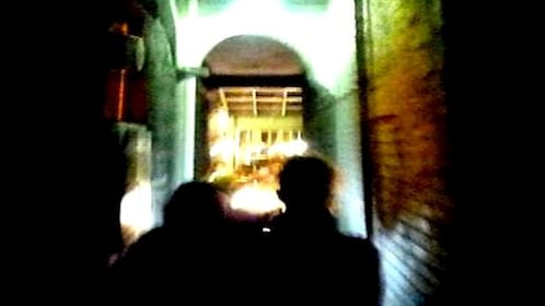 two men in shadows of alleyway in Ghost Tour in Melbourne