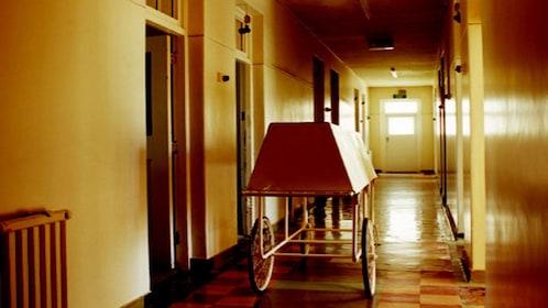 hospital gurney in hallway in Melbourne