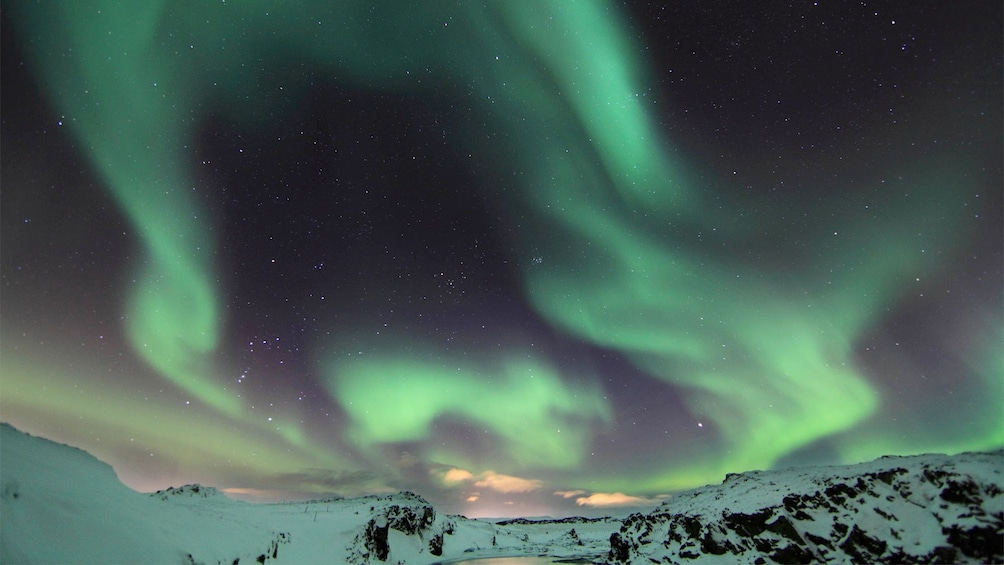 Stunning view of the Northern Lights