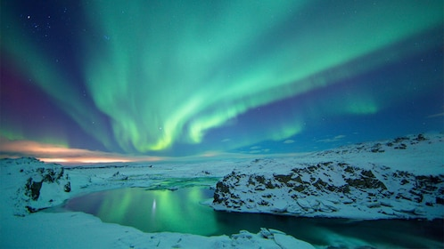 Majestic view of the Northern Lights