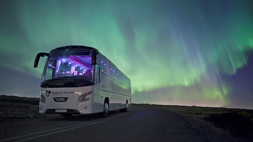 Bus tour of the Northern Lights