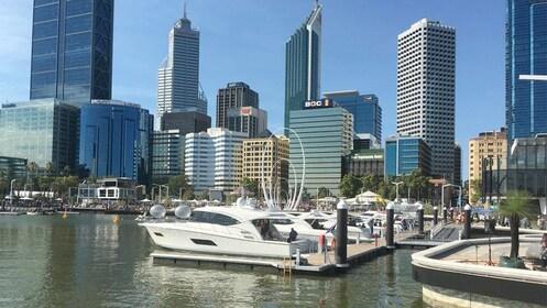Perth marina and city view