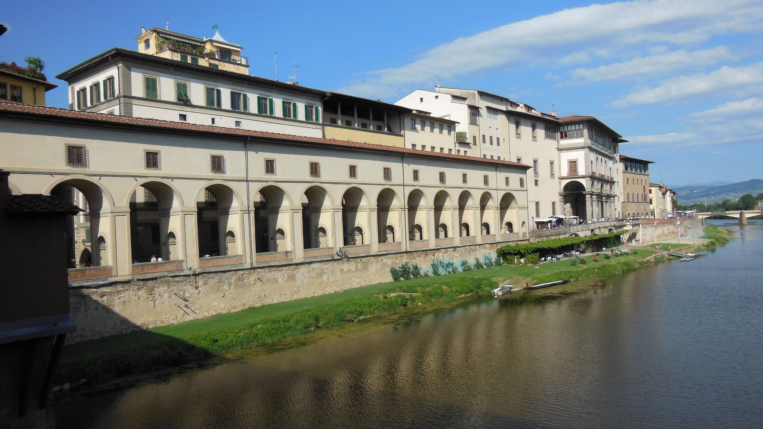Buildings along a canal in Florence