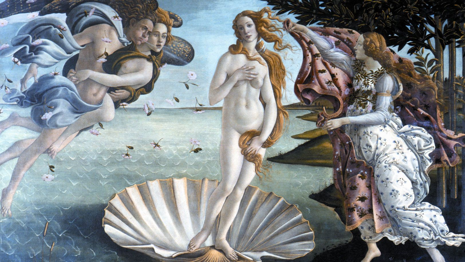 The Birth of Venus painting in Florence