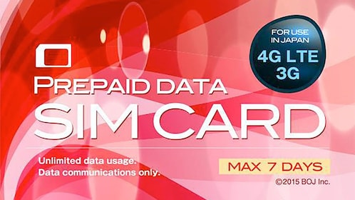 Prepaid Data SIM Card for Japan 7 Days