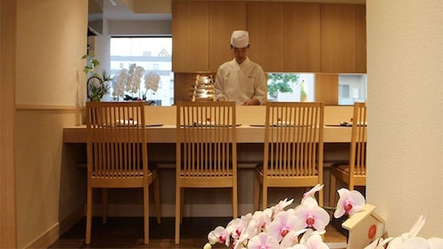 Chef at the Authentic Kaiseki Dinner in Tokyo