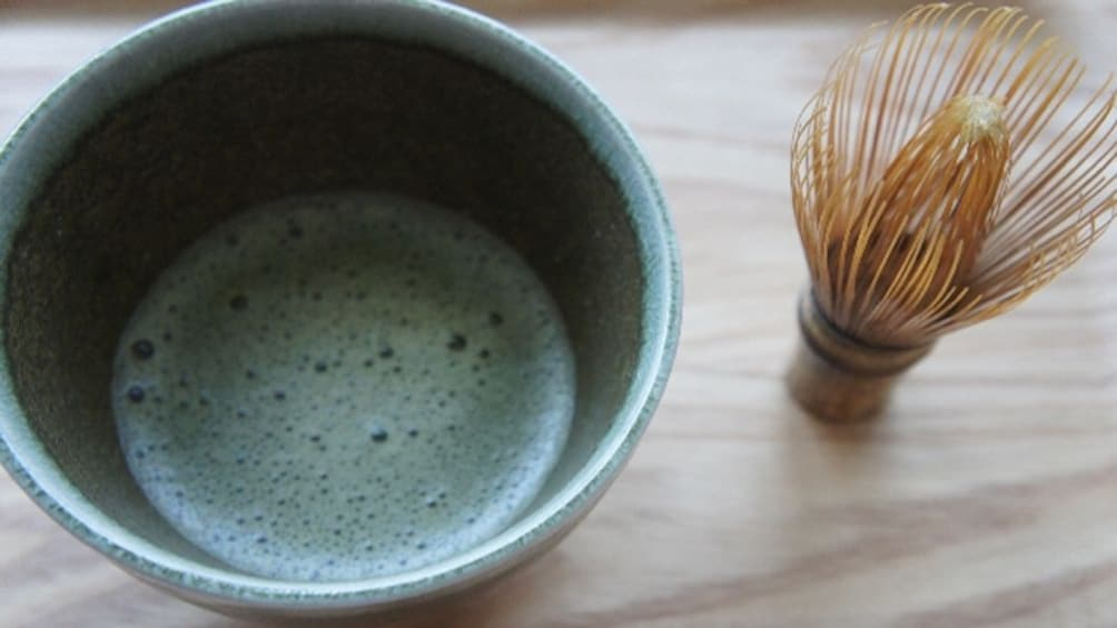 Japanese tea and strainer