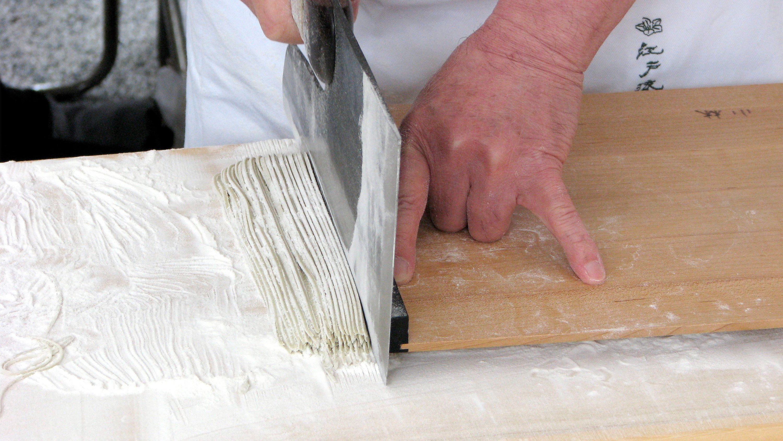 Soba making in Tokyo