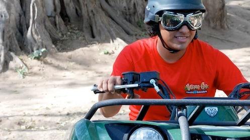 Man having fun on an ATV tour in Mazatlan