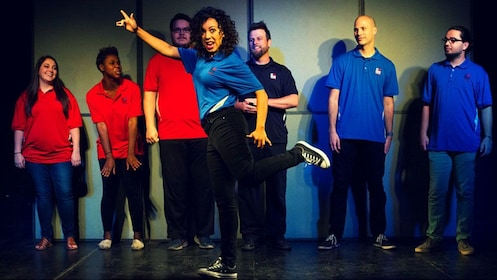 Comedy troupe onstage in Phoenix