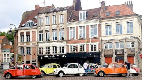 View of the Tour of Lille in a 2CV in Marseille, France