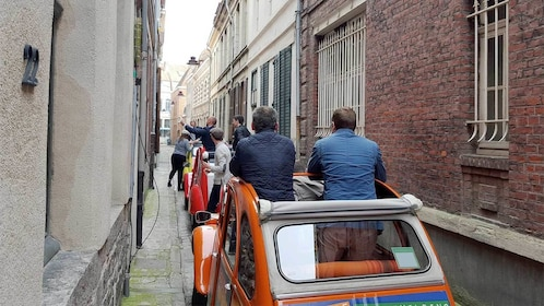 Group on the Tour of Lille in a 2CV in Marseille, France