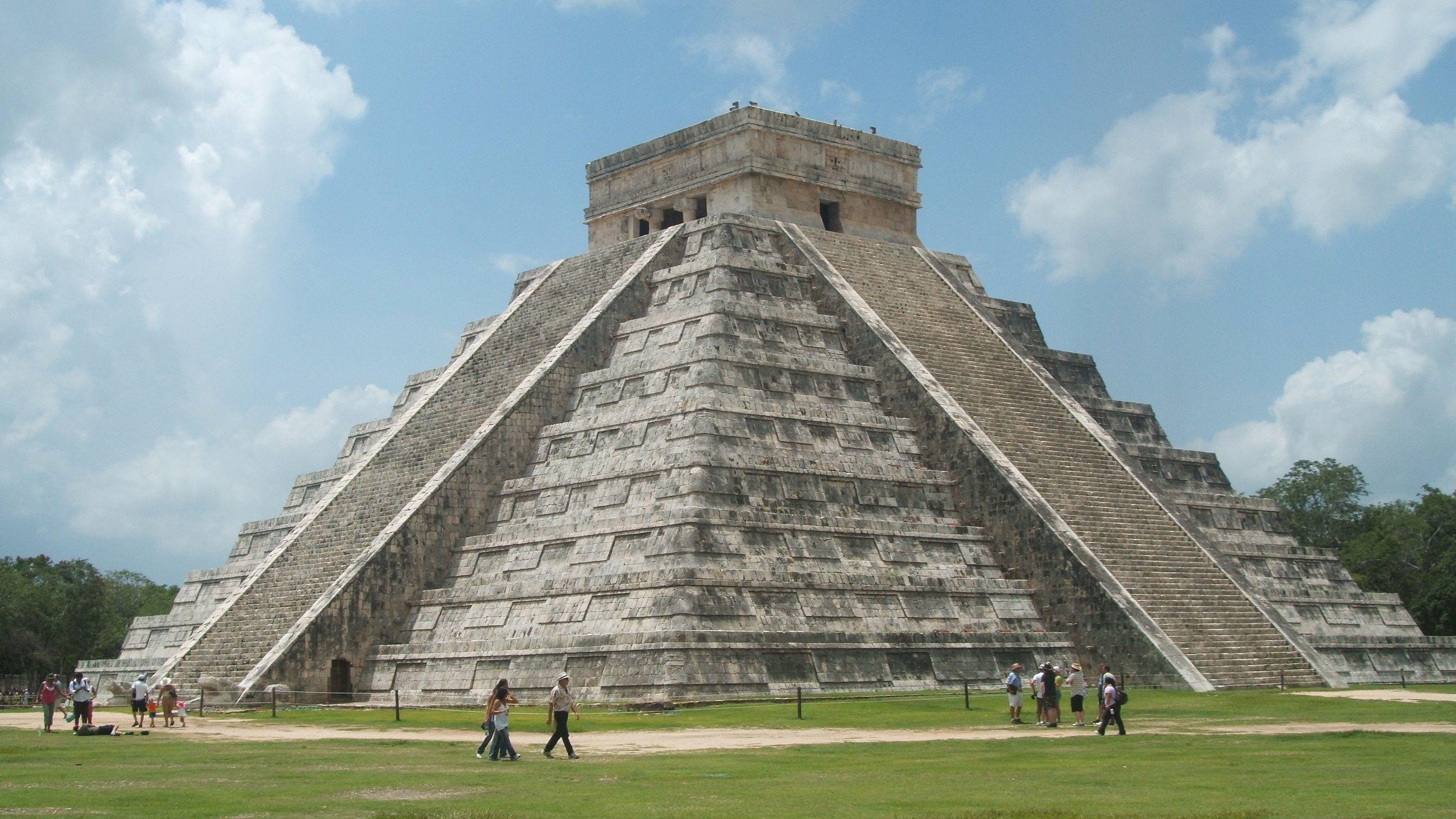 A Mexican pyramid