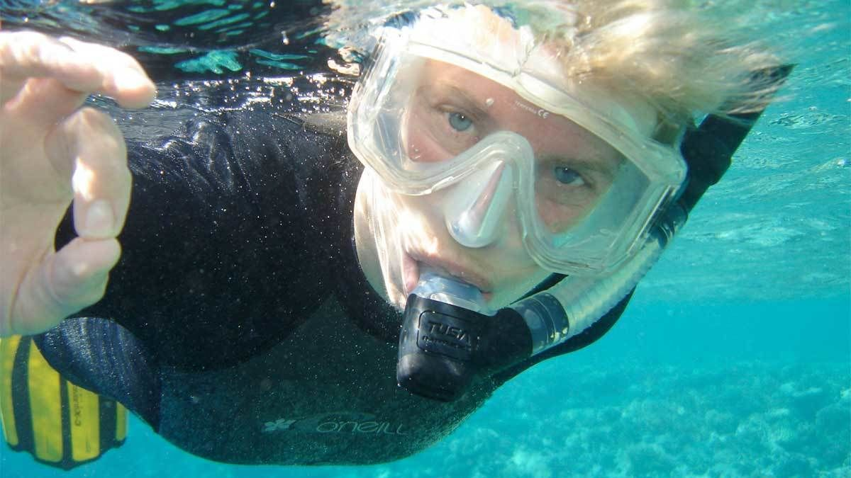 Snorkeling by The Arch