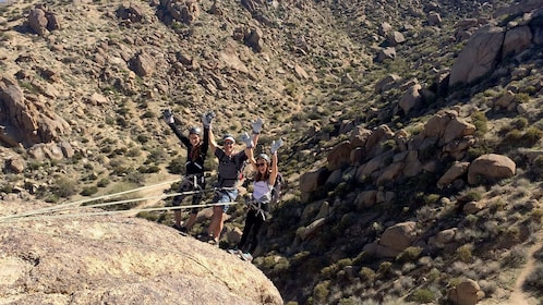 Rappelling group in Arizona