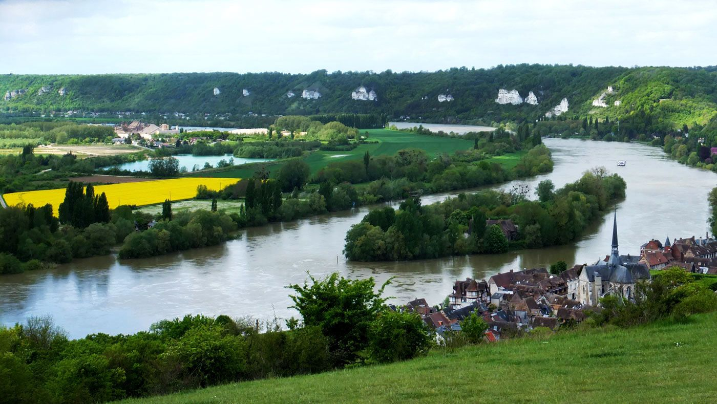 View from the hill overlooking Giverny