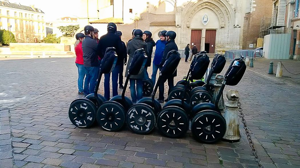 Segway tour group in Toulouse