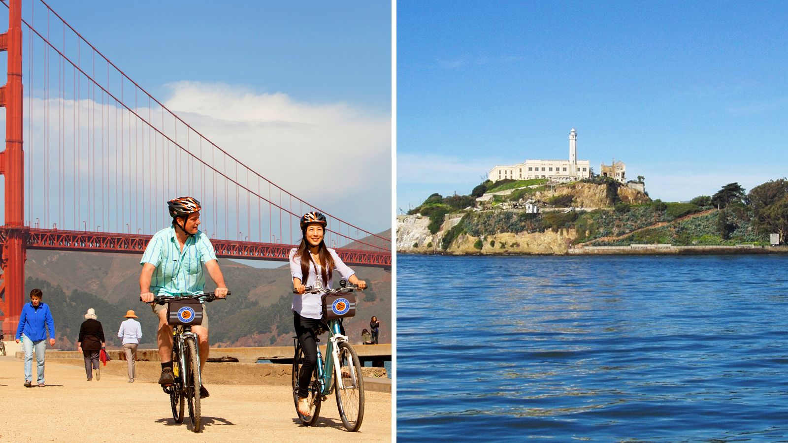 2-Day Combo: Golden Gate Bridge Biking Tour with Alcatraz Admission