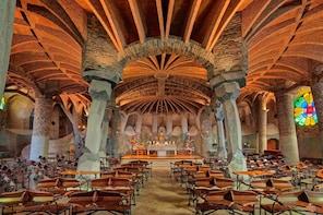 Billetes para la audioguía de la cripta de la Colonia Güell de Gaudí
