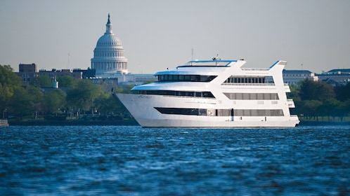 Cruise boat with Capitol Building in the background in Washington DC