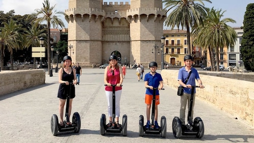 View of a group on a segway tour in Valencia