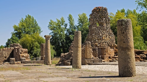 ruins with columns