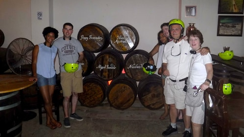 Bicycling group at a winery in Santo Domingo