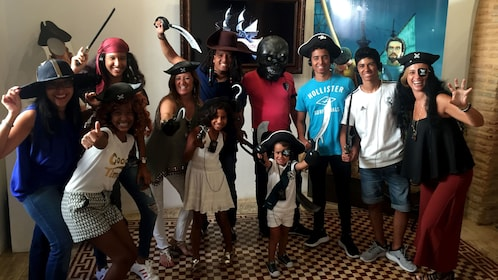 Tour group dressed as pirates in Santo Domingo