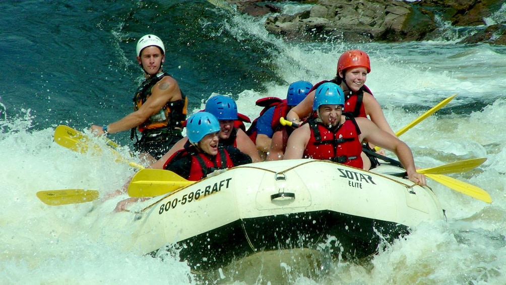Show item 2 of 4. White water rafting group