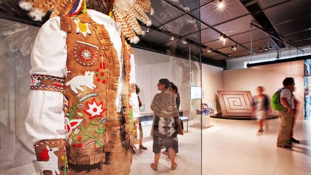 Apri foto 1 di 5. Native costumes on display at the Musee McCord in Montreal