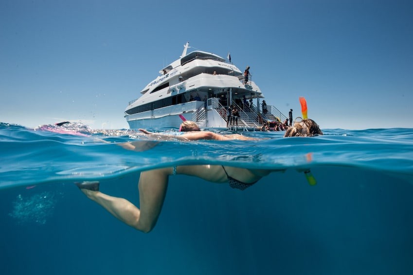 Show item 1 of 9. Outer Great Barrier Reef Cruise & Diving Tour with Lunch