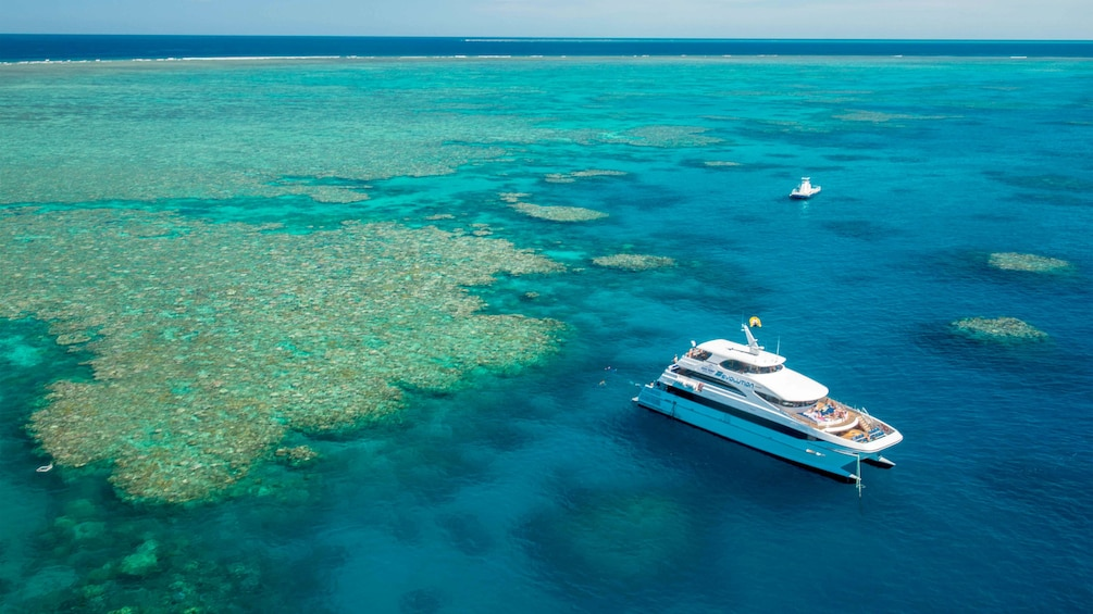 Show item 5 of 9. Boat and the Great Barrier Reef in Australia