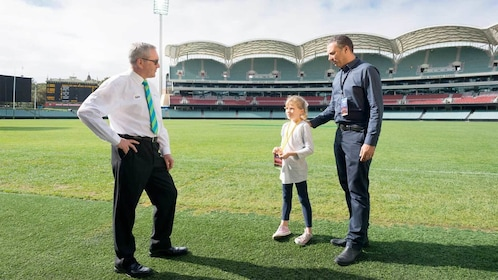 Visitors on the Adelaide Oval Stadium Tour