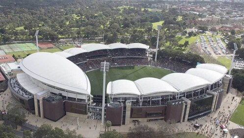Aerial view of the Adelaide Oval Stadium