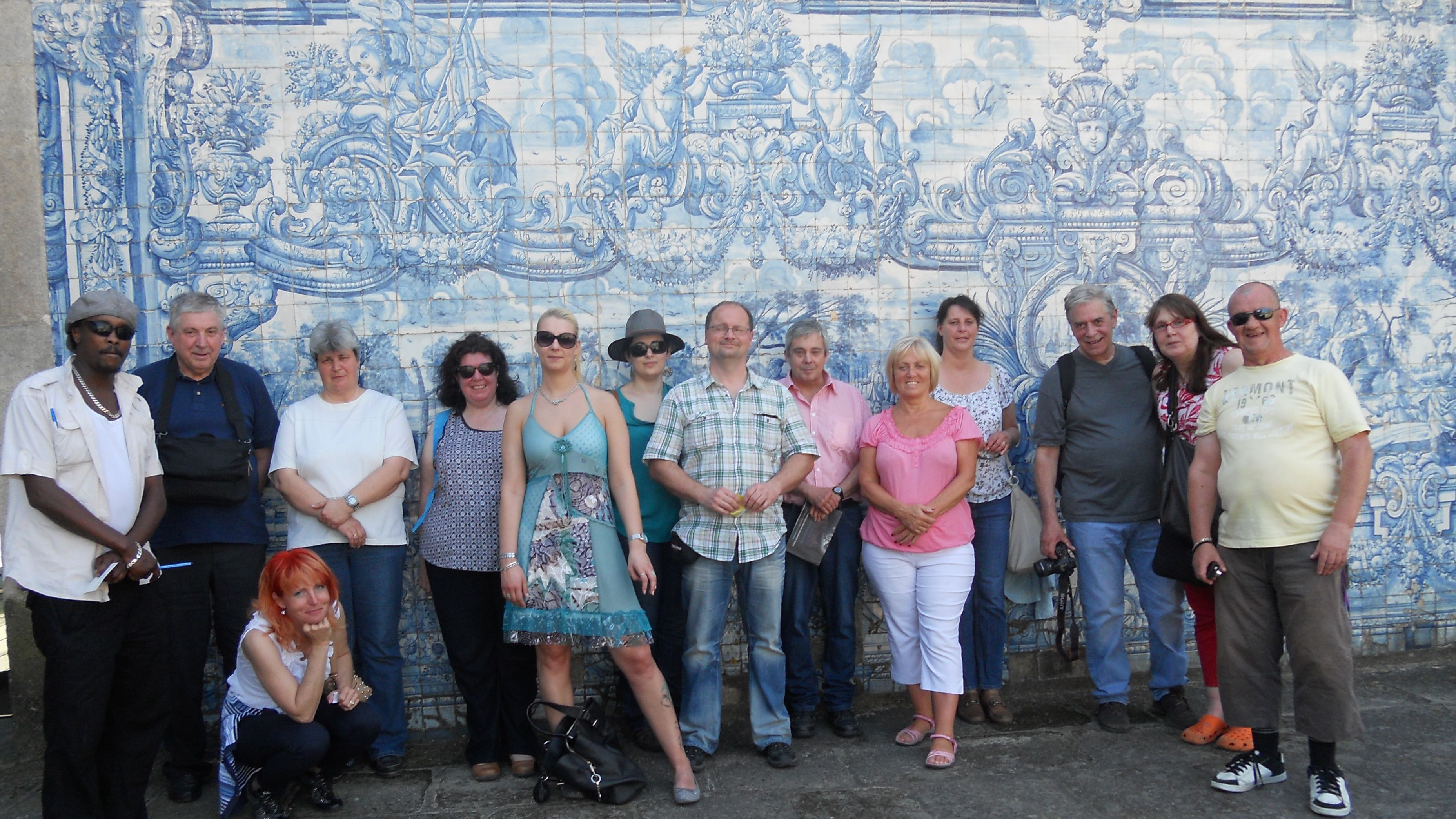 Tour group in Portugal