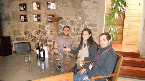 Group having wine on the Porto Wine & Gastronomy Walking Tour