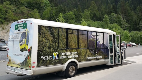 Shuttle bus in British Colombia