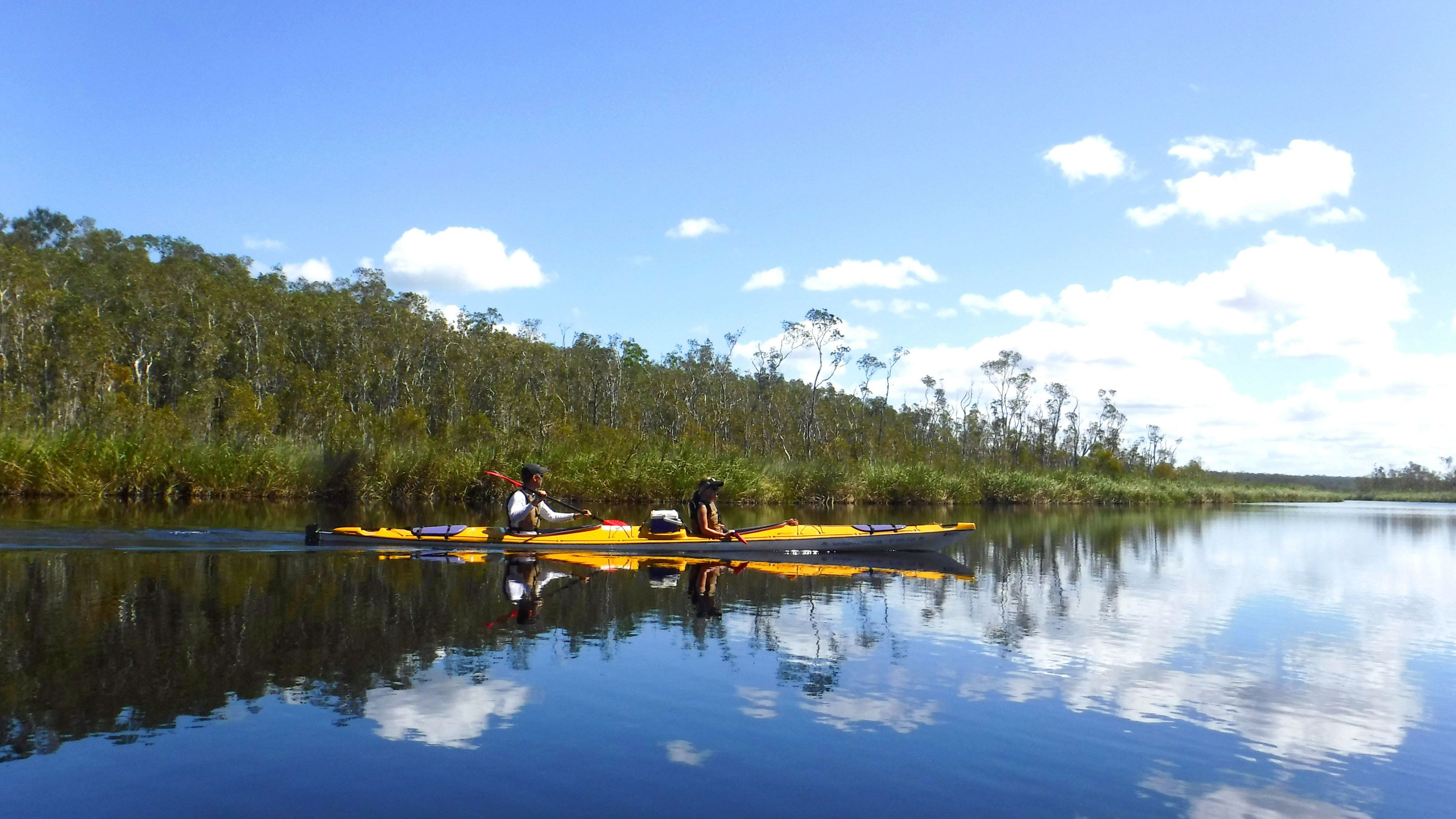 Kayaking pair in Australia