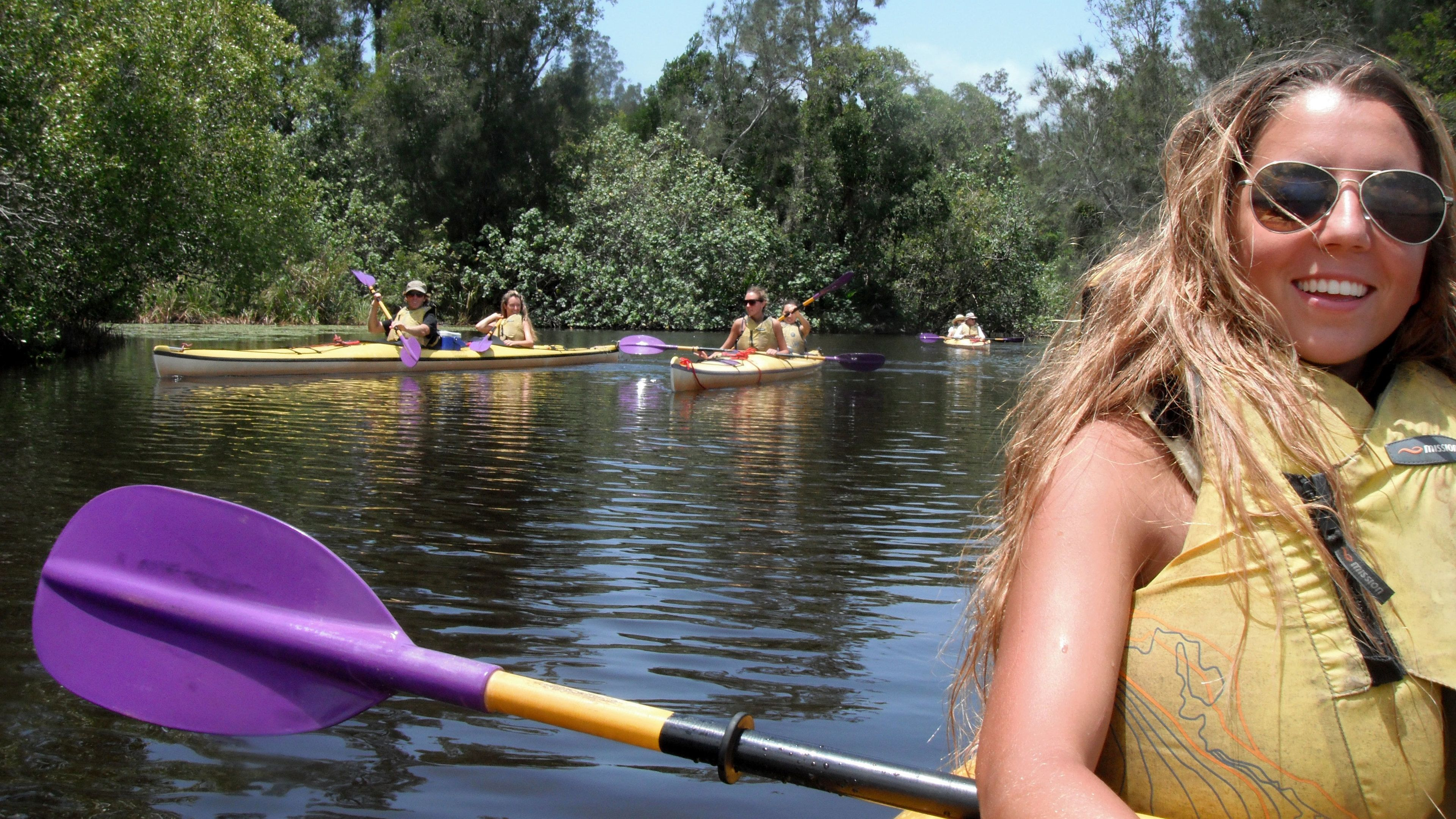 Kayaking group in the Everglades of Australia