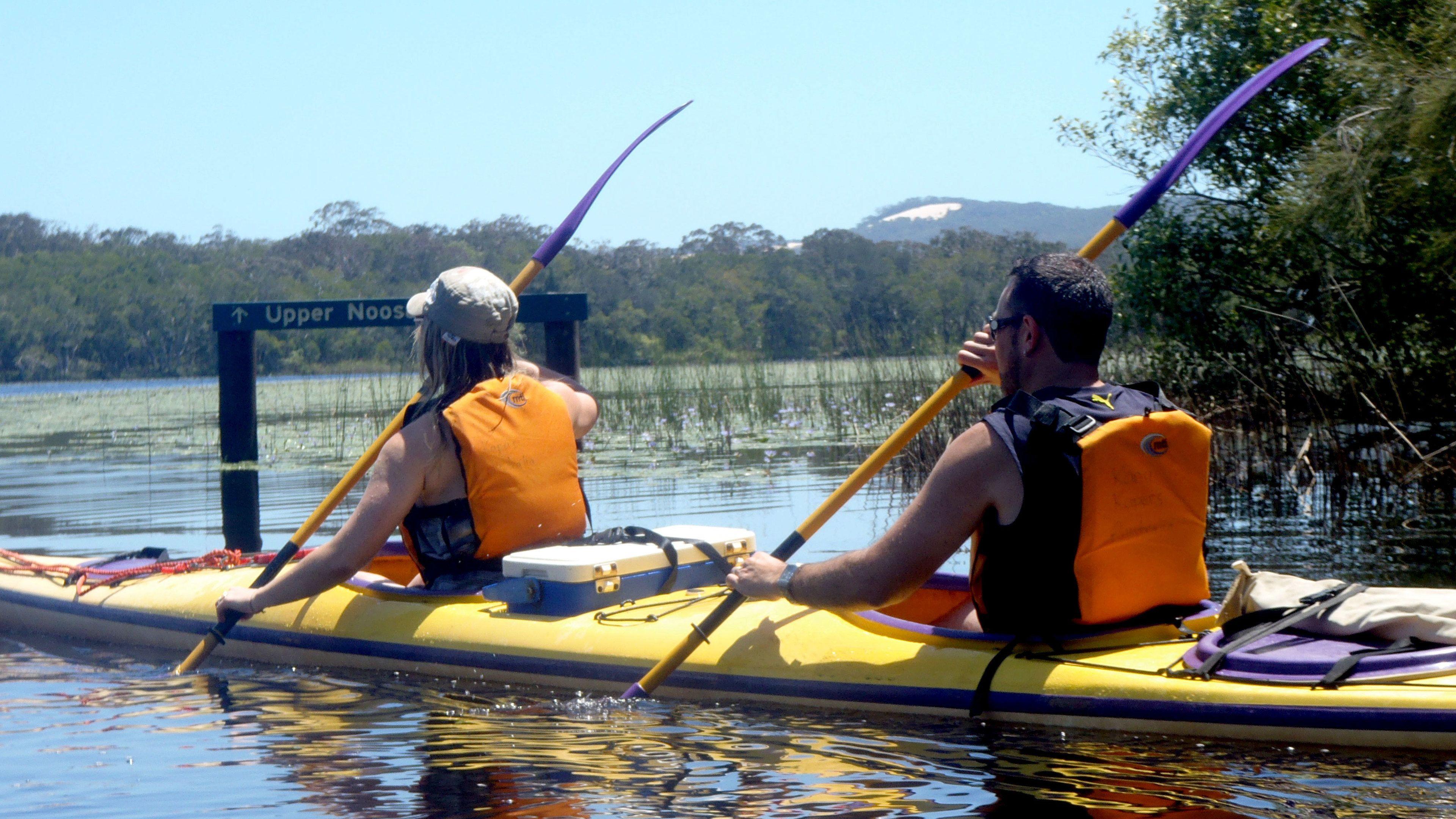 Kayaking couple in Australia
